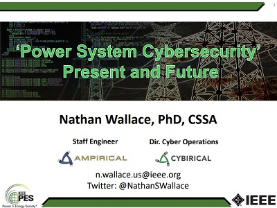 Cybersecurity of the Electric Power Transmission and