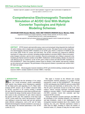 Comprehensive Electromagnetic Transient Simulation of AC/DC