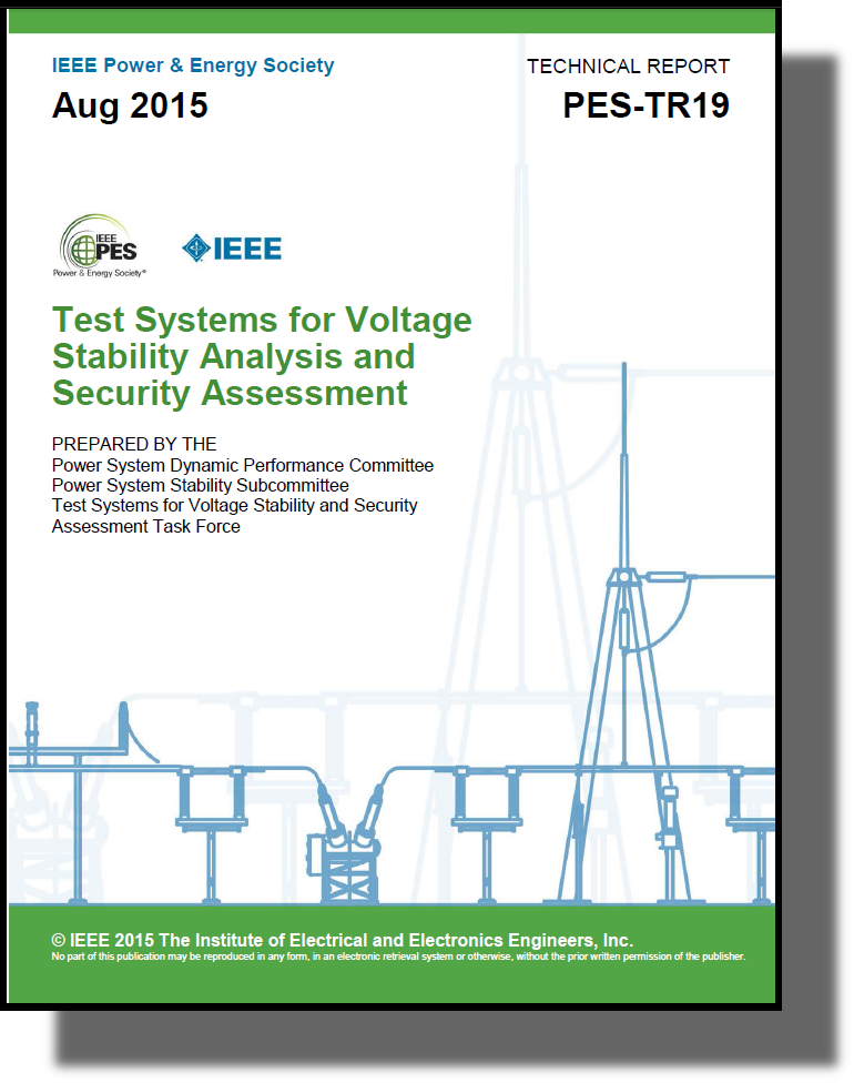 Test Systems for Voltage Stability Analysis and Security Assessment